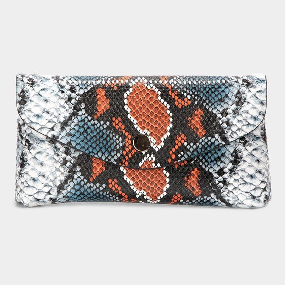 Multicolor Python Clutch - HOT SUGAR BOUTIQUE