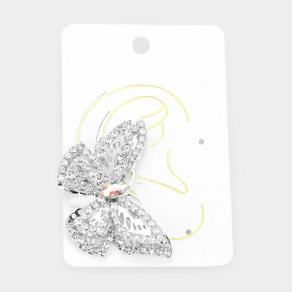 Butterfly Kiss Ear Cuff- Silver - HOT SUGAR BOUTIQUE