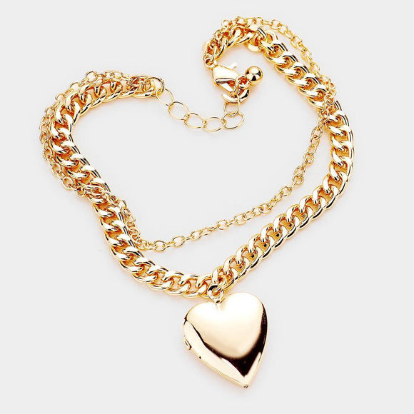 Copy of Locket Bracelet- Gold