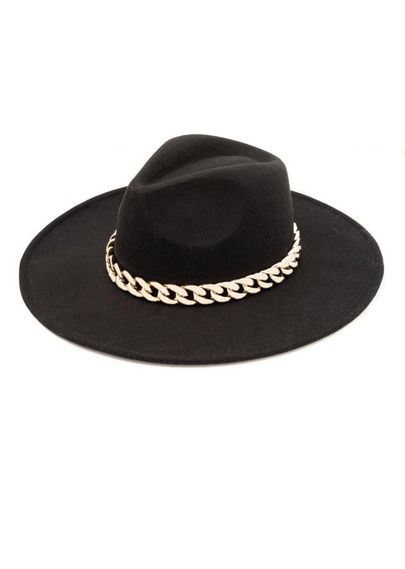Chain Luxe Hat- Black