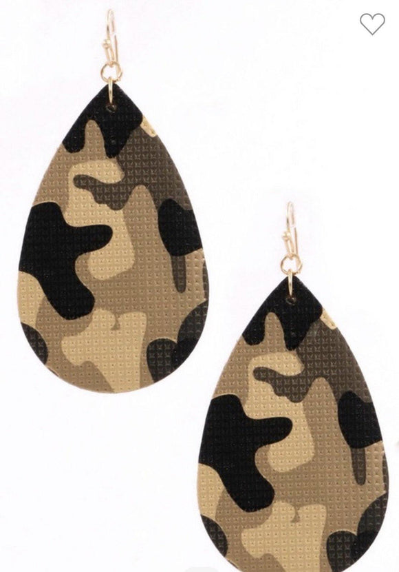 Camo Drop Earrings - HOT SUGAR BOUTIQUE