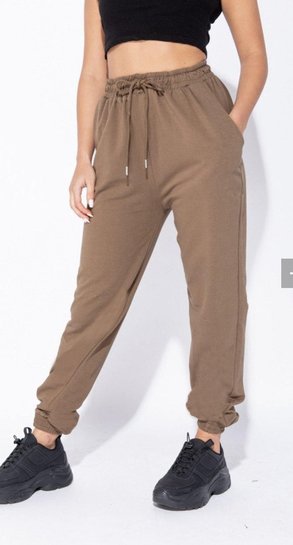 Chicago Jogger- Olive Brown - HOT SUGAR BOUTIQUE