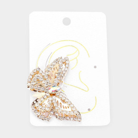Butterfly Kiss Earring Cuff - Gold - HOT SUGAR BOUTIQUE
