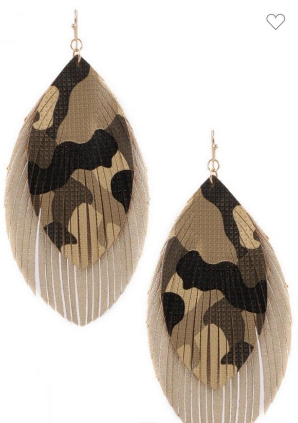 Camo Flair Earrings