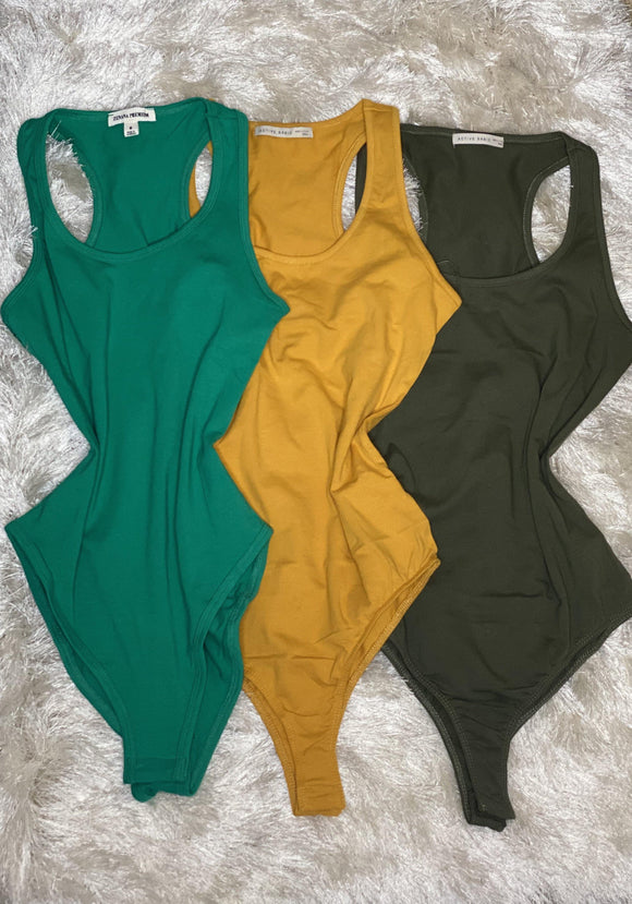 Basics Bodysuit- Mustard - HOT SUGAR BOUTIQUE