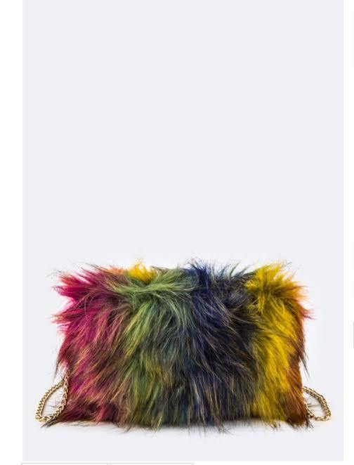Bright Multi color Fur Swing - HOTSUGARBOUTIQUE