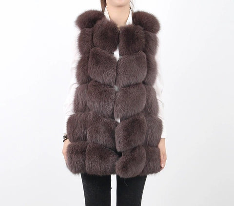 LUXE Brown Fur Gilet