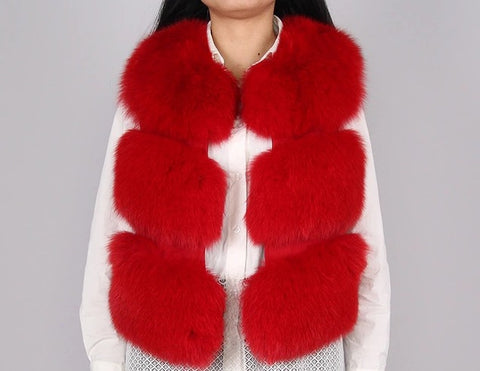 LAVISH Red Fur Gilet
