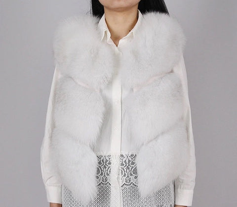 LAVISH White Fur Gilet