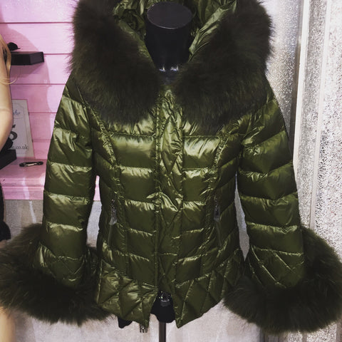 The Grandeur Khaki Green Duck Down Coat