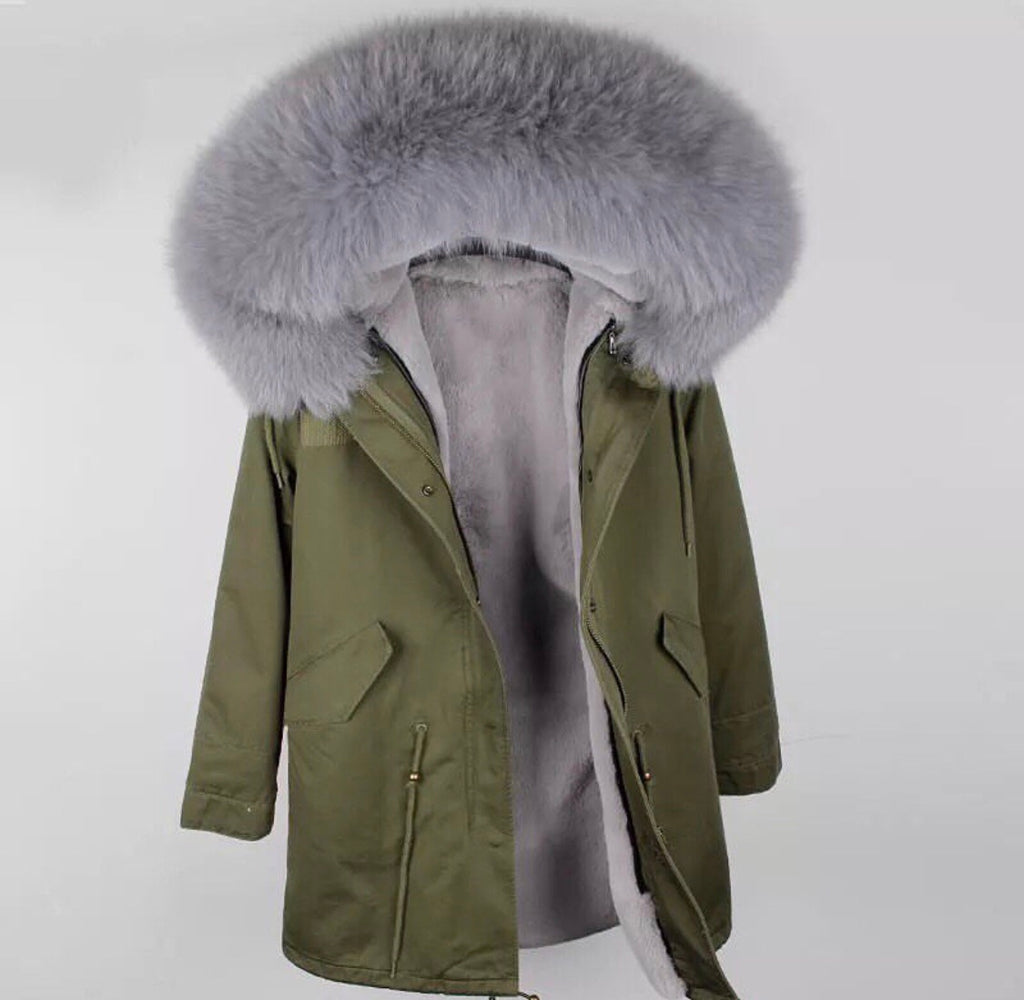 DUCHESS GREY ON KHAKI PARKA Pre Order