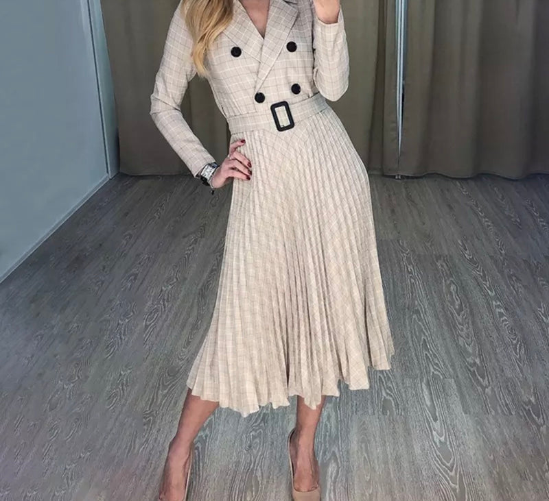 SAFFIE BEIGE DRESS