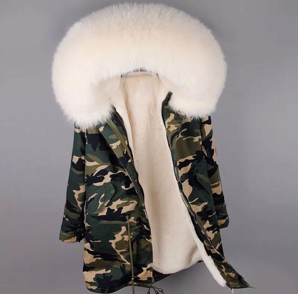 DUCHESS CREAM ON ARMY PARKA Pre Order