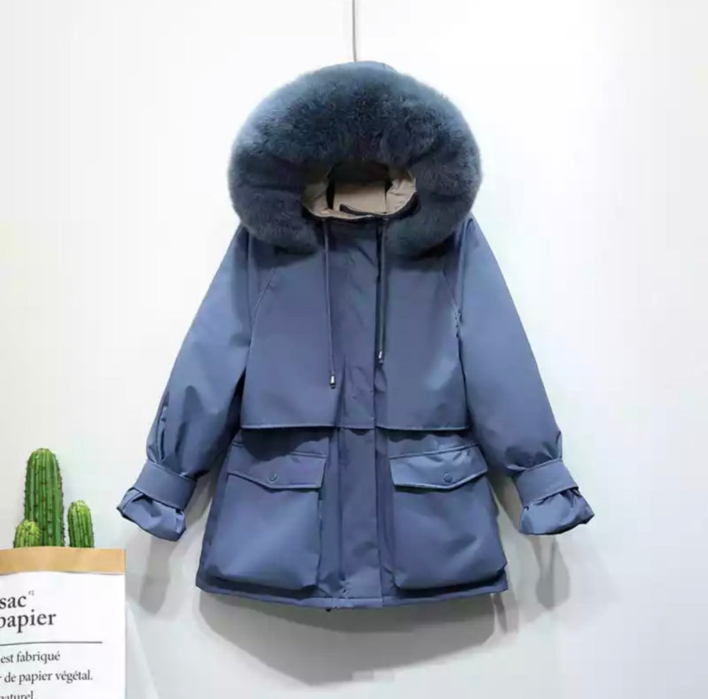 HARRIET BLUE COAT