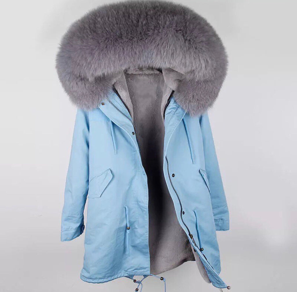 DUCHESS GREY ON BLUE PARKA Pre Order