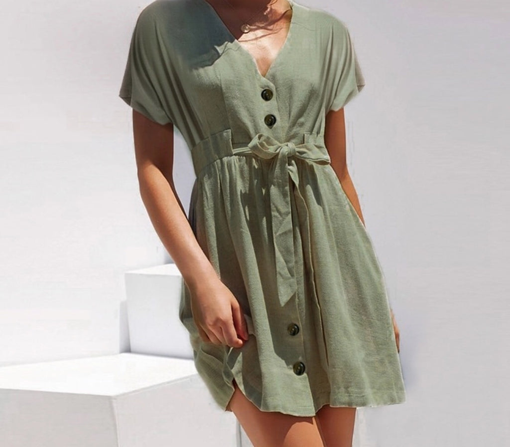 NATALIE KHAKI DRESS