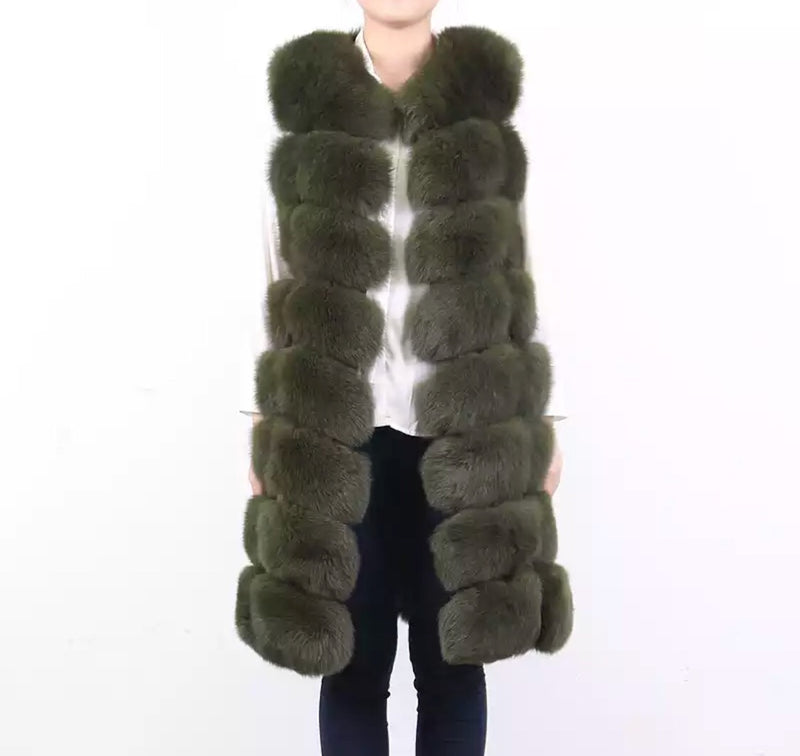 LUXE Light Beige Fur Gilet