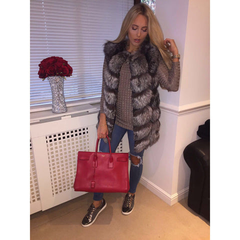 Natural Grey Fur Gilet PRE ORDER