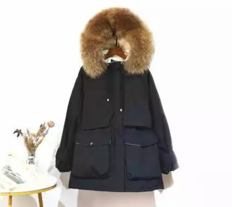 HARRIET BLACK / NATURAL COAT