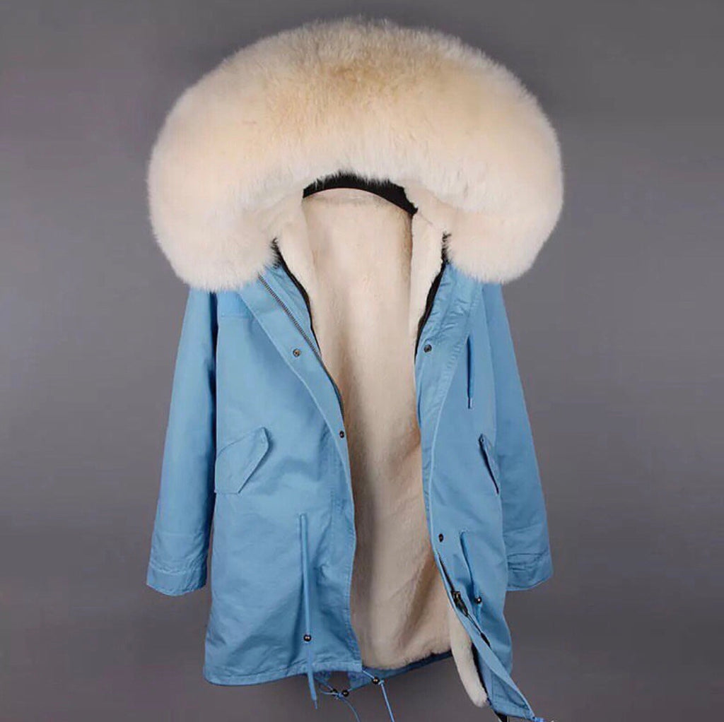 DUCHESS CREAM ON BLUE PARKA Pre Order