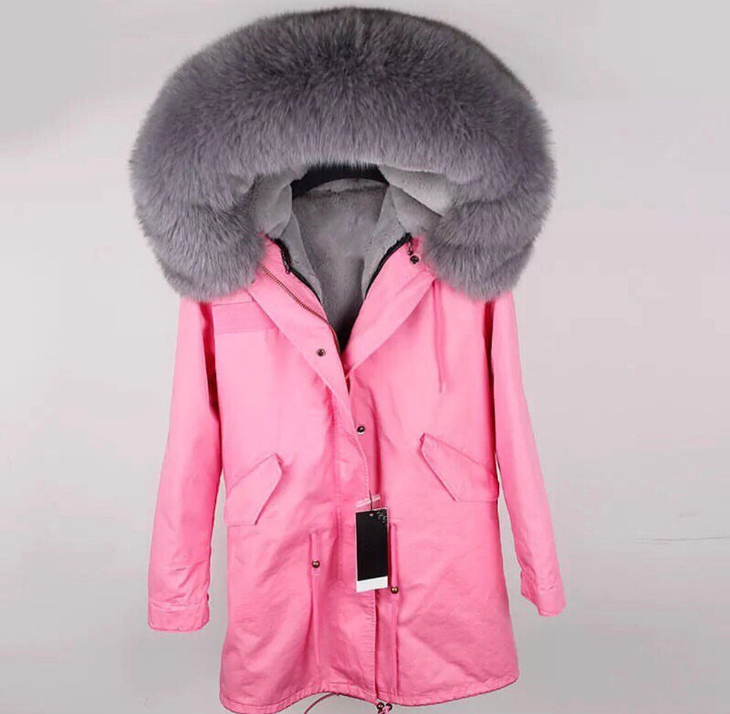 DUCHESS GREY ON PINK PARKA Pre Order