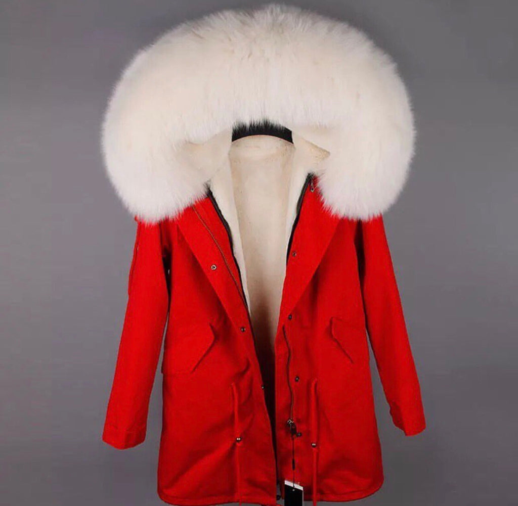 DUCHESS CREAM ON RED PARKA Pre Order