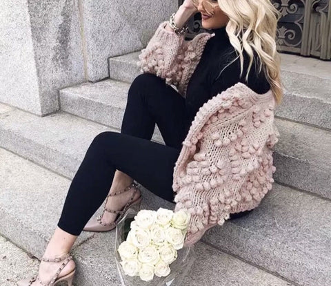 HEARTS ON FIRE PINKY NUDE Cardigan Pre Order