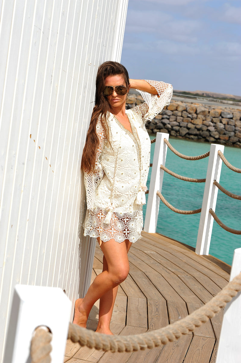 CANDY CREAM KAFTAN