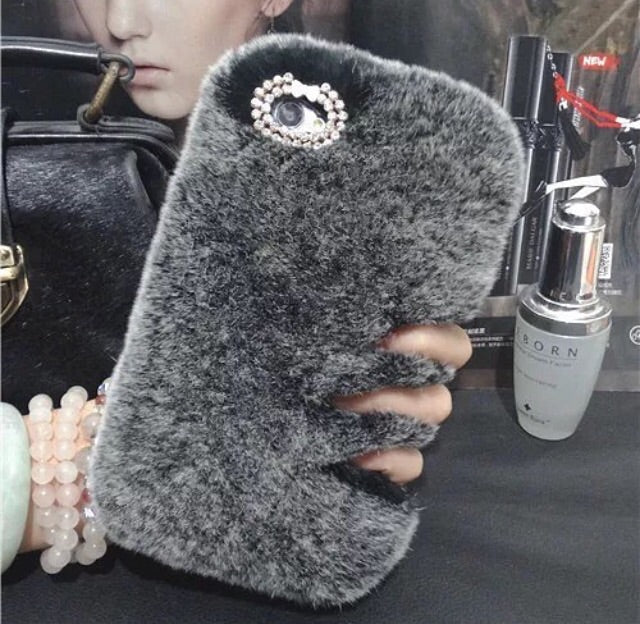 Grey Fur Phone Case