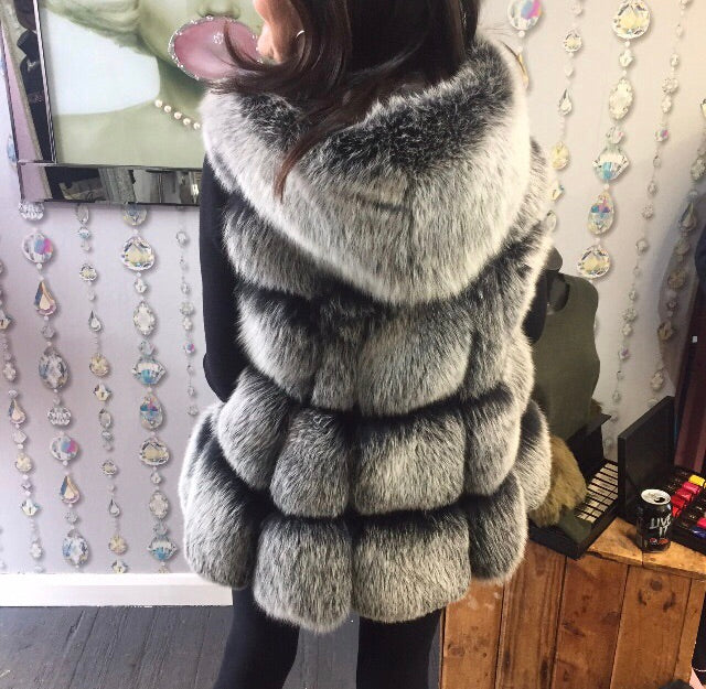 HEIRESS Fox Fur Gilet