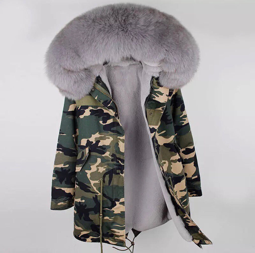 DUCHESS GREY ON ARMY PARKA Pre Order