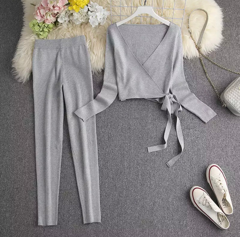 FARRAH WRAP GREY SET