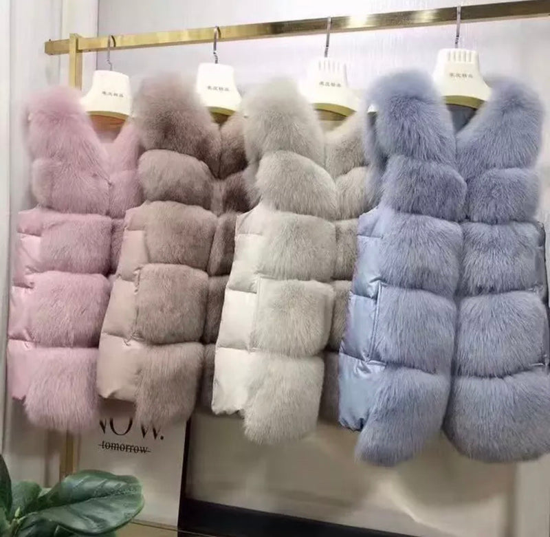 LUXE WINE Fur Gilet