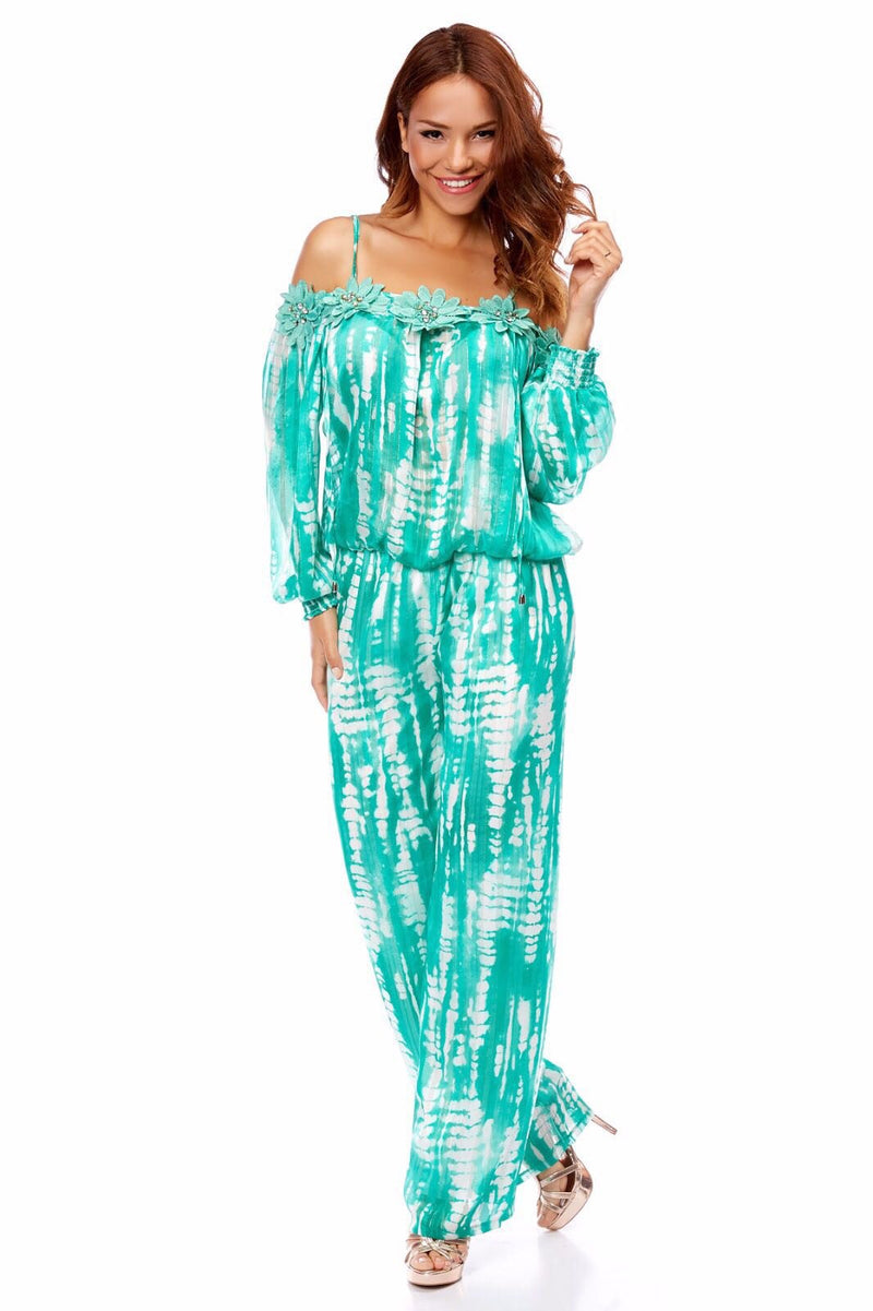 MIMI FLOWERS Green Jumpsuit