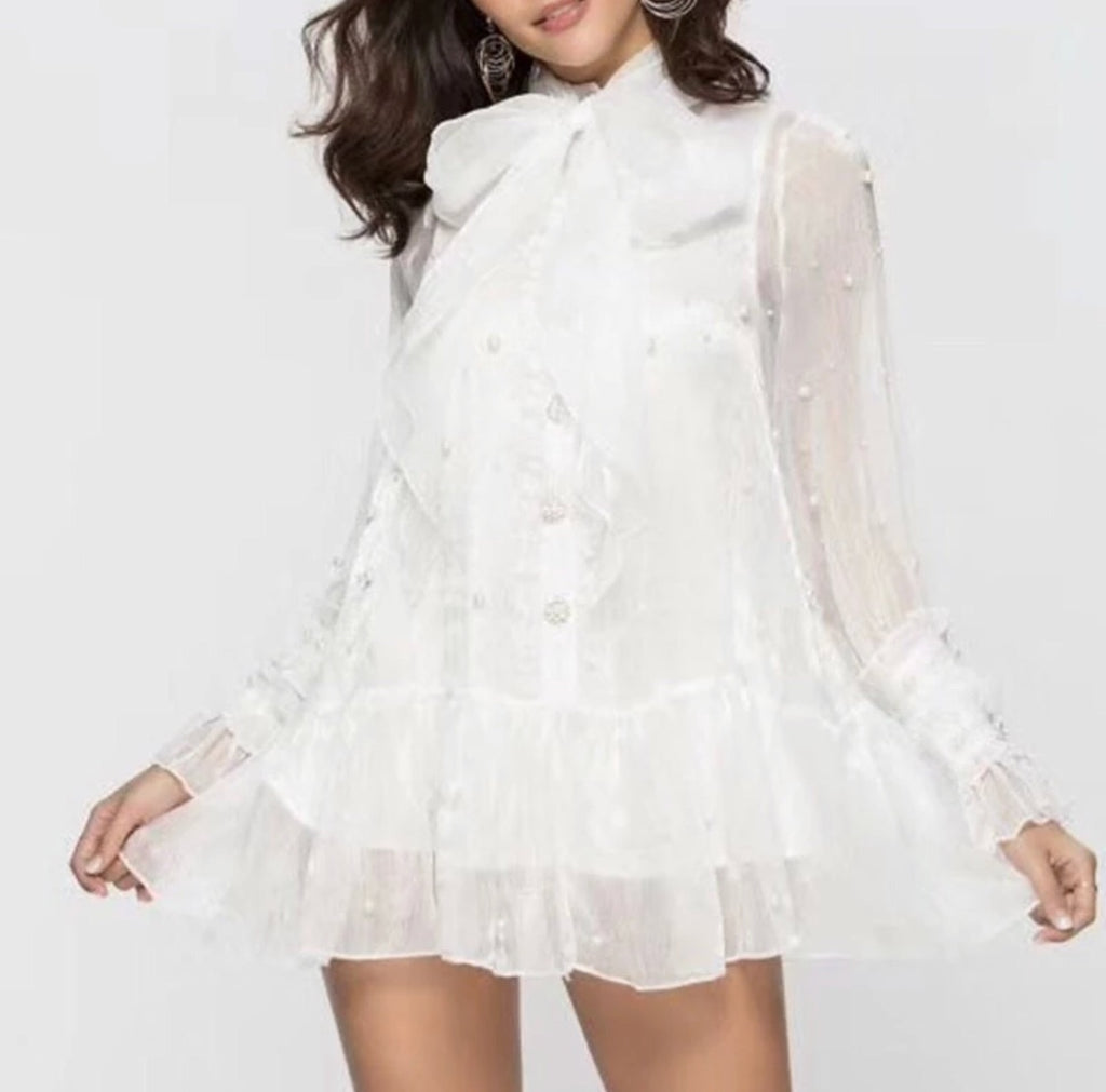 EMMIE WHITE MINI DRESS