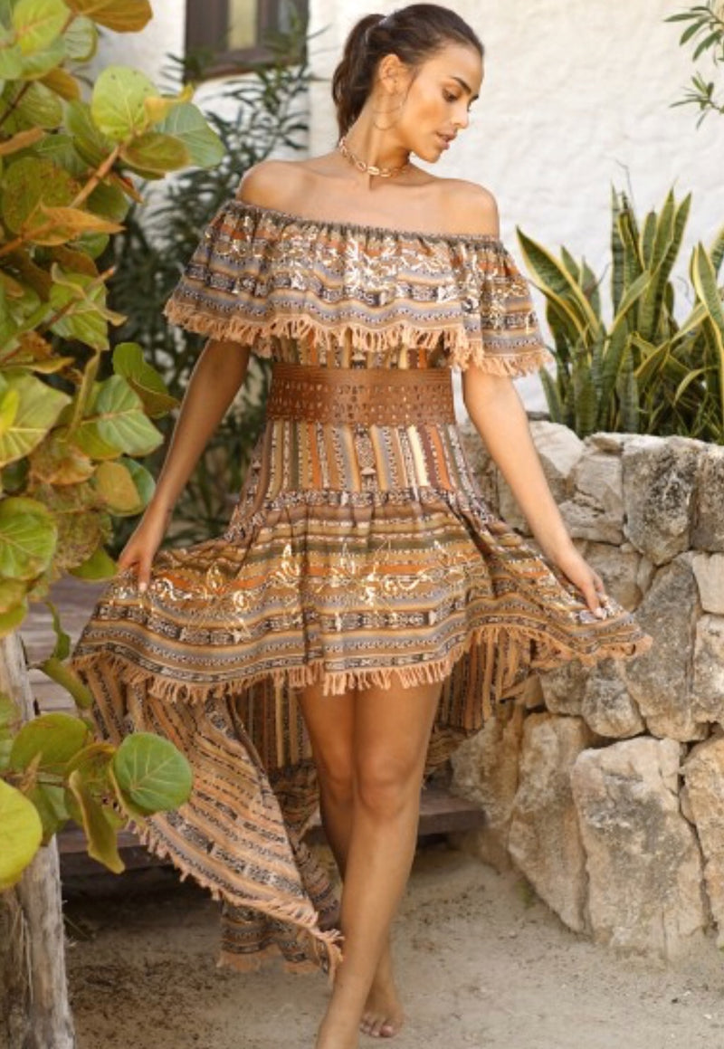 DRESS CHICHI BROWNS