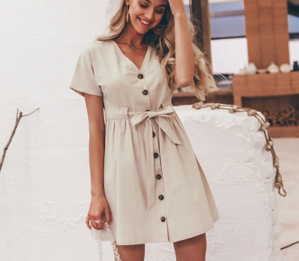 NATALIE BEIGE DRESS