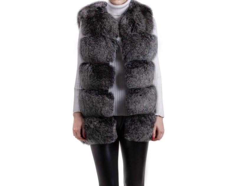REGAL Black / White Gilet
