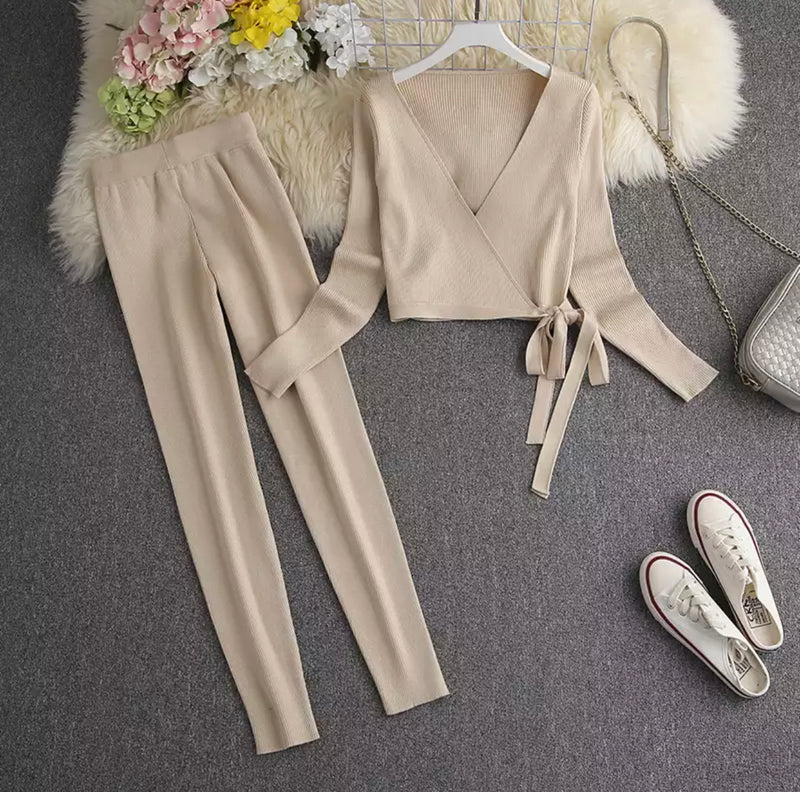 FARRAH WRAP BEIGE SET