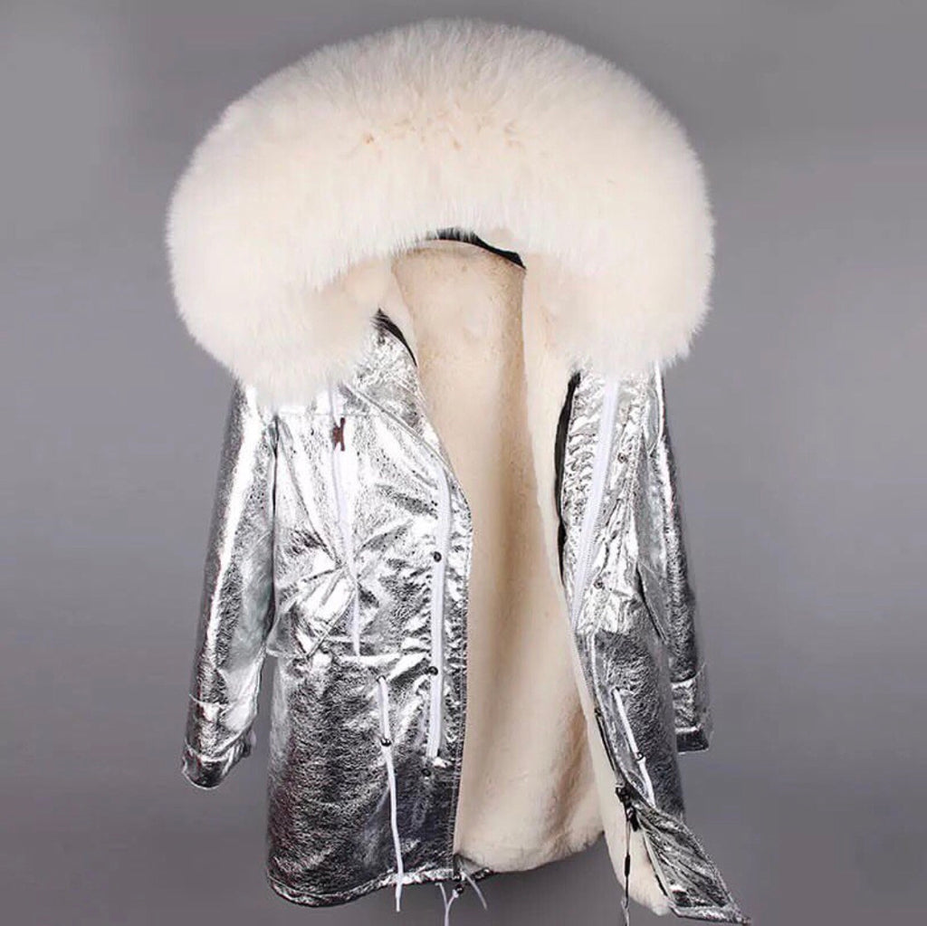 DUCHESS CREAM ON SILVER PARKA Pre Order