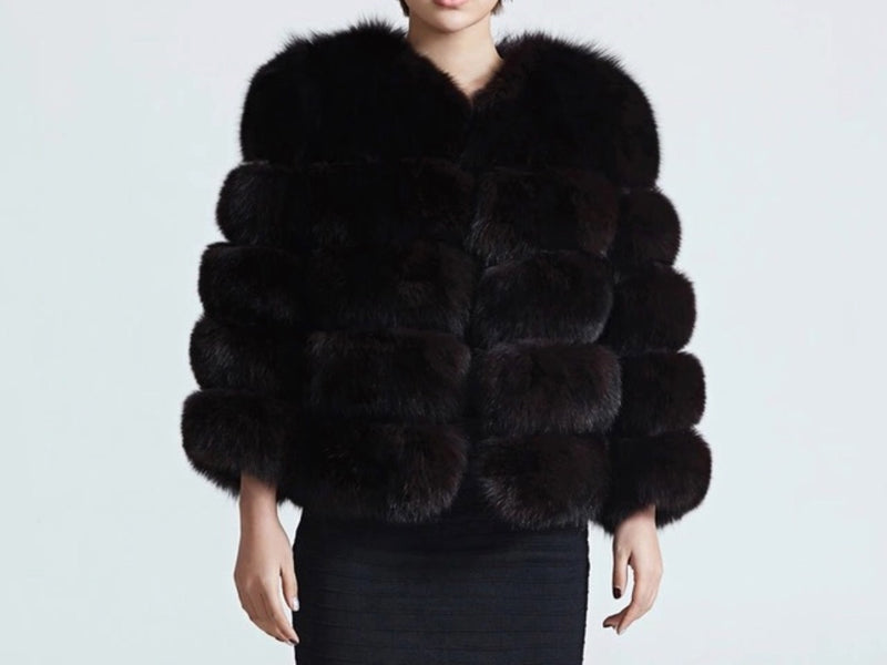 MISSY Black Fur Coat