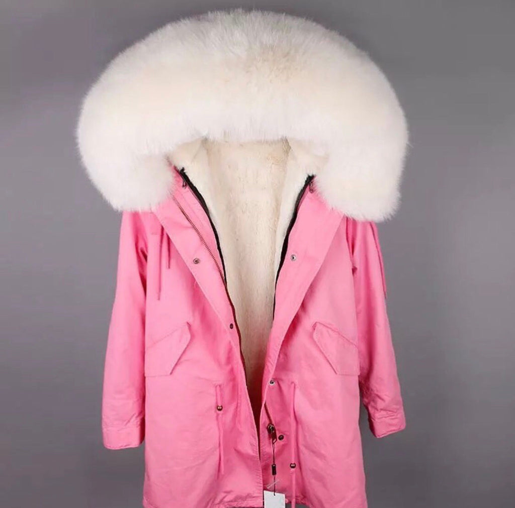 DUCHESS CREAM ON PINK PARKA Pre Order