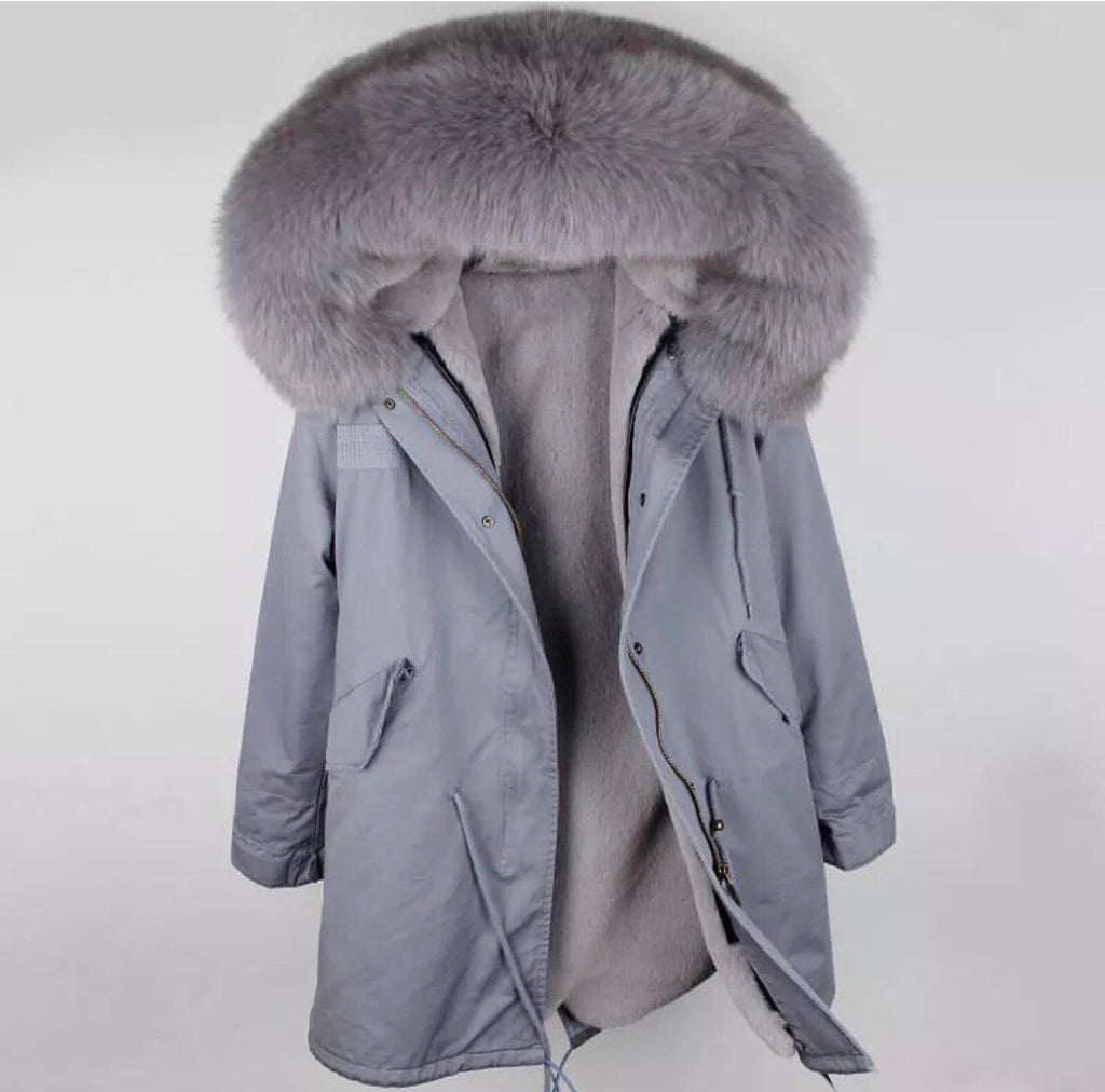 DUCHESS GREY ON GREY PARKA Pre Order