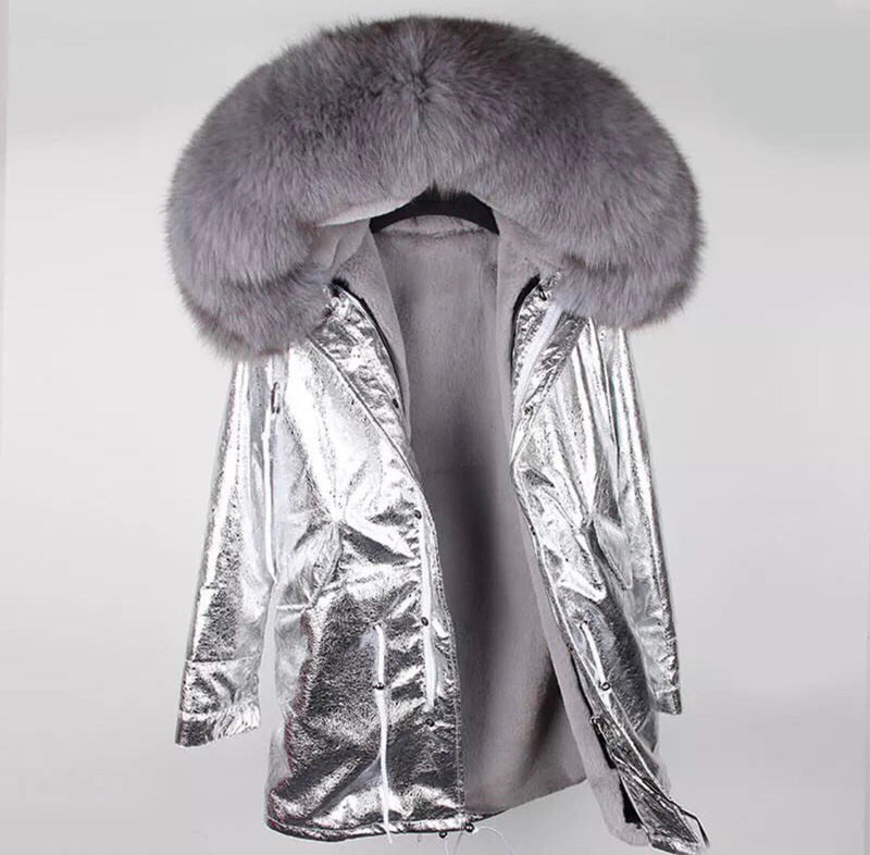 DUCHESS GREY ON SILVER PARKA Pre Order