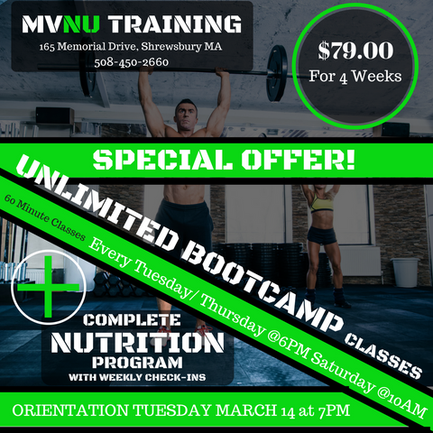 4 week Bootcamp and Nutrition Package