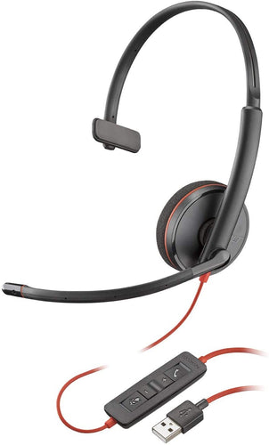 Plantronics Blackwire Headsets 3210 USB Type-A Corded Monaural UC