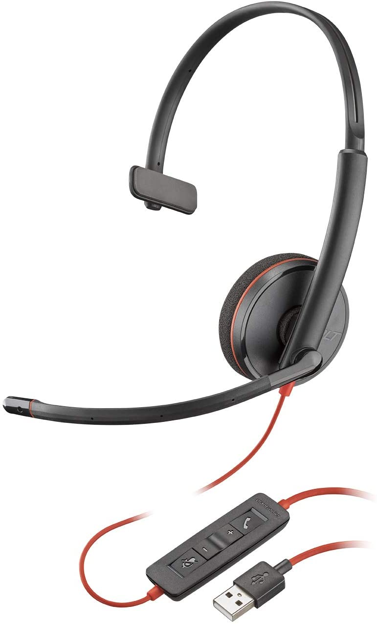 Plantronics Blackwire 3210 (209744-101) Headsets USB Type-A Corded Monaural UC