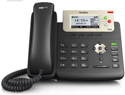 Yealink T23G IP Phone, 3 Lines. 2.8-Inch Graphical LCD. Dual-Port 10/100 Ethernet, 802.3af PoE,