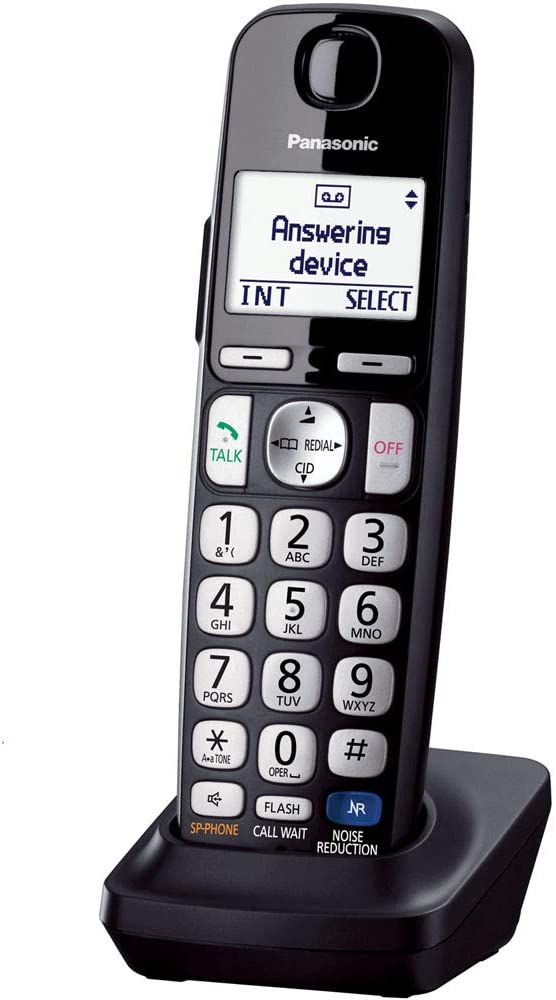Panasonic Cordless Phone Handset Accessory Compatible with TGE210/TGE230/TGE240/TGE270 Series Cordless Phone Systems - KX-TGEA20B (Black)
