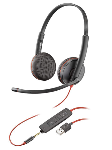 Plantronics Blackwire 3225 USB-A Headset, On-Ear Mono Headset, Wired